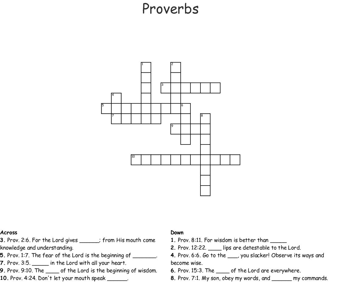 Proverbs 3 5 6 Worksheet