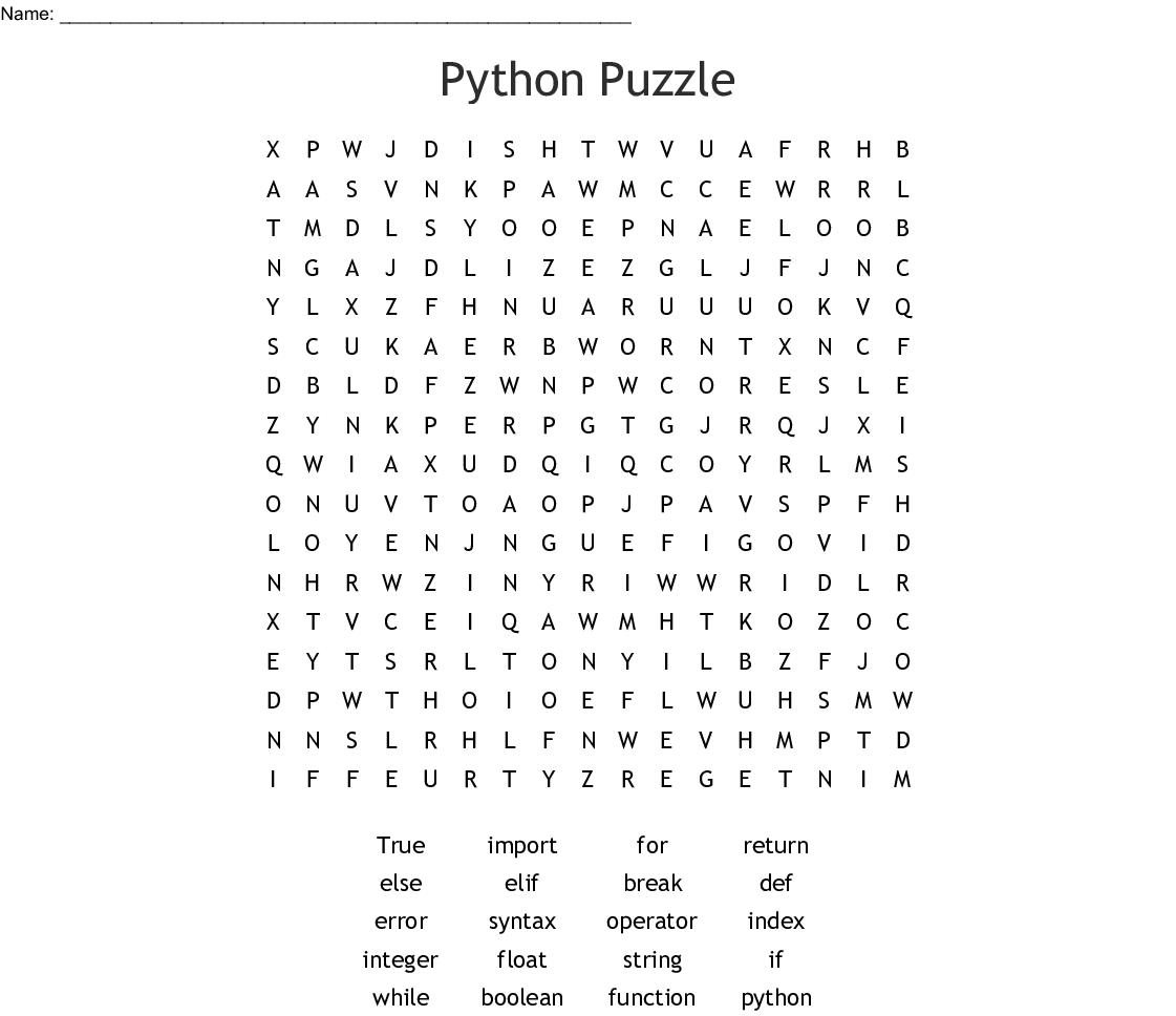 Programming Crosswords Word Searches Bingo Cards