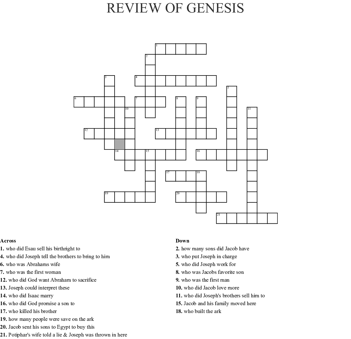 Old Testament Book Of Exodus Word Search