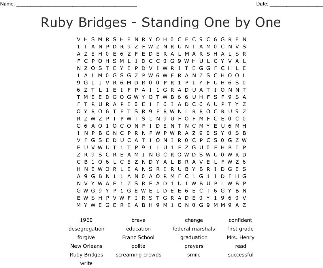Ruby Bridges Crossword Puzzle