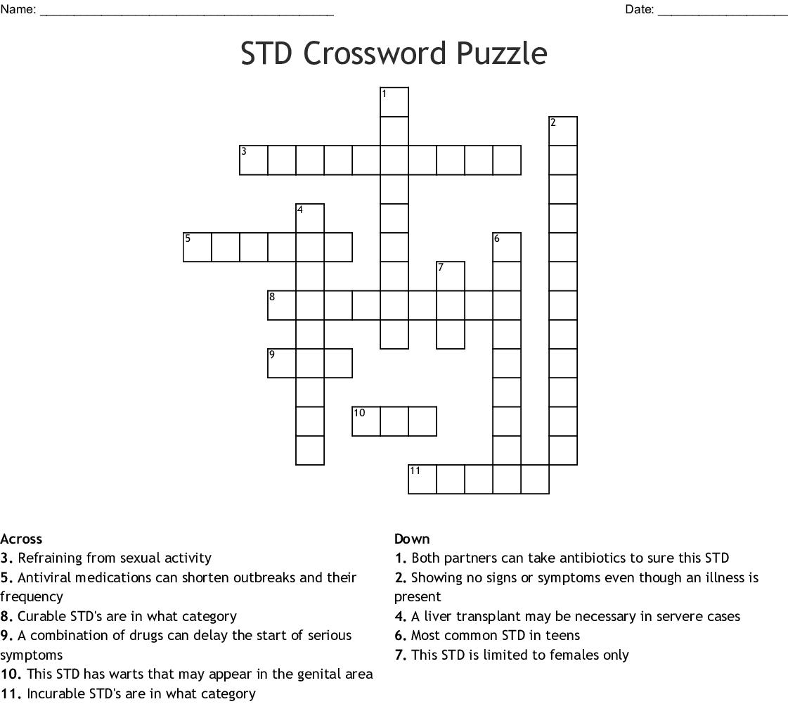 Std Or Sti Whose To Say Crossword