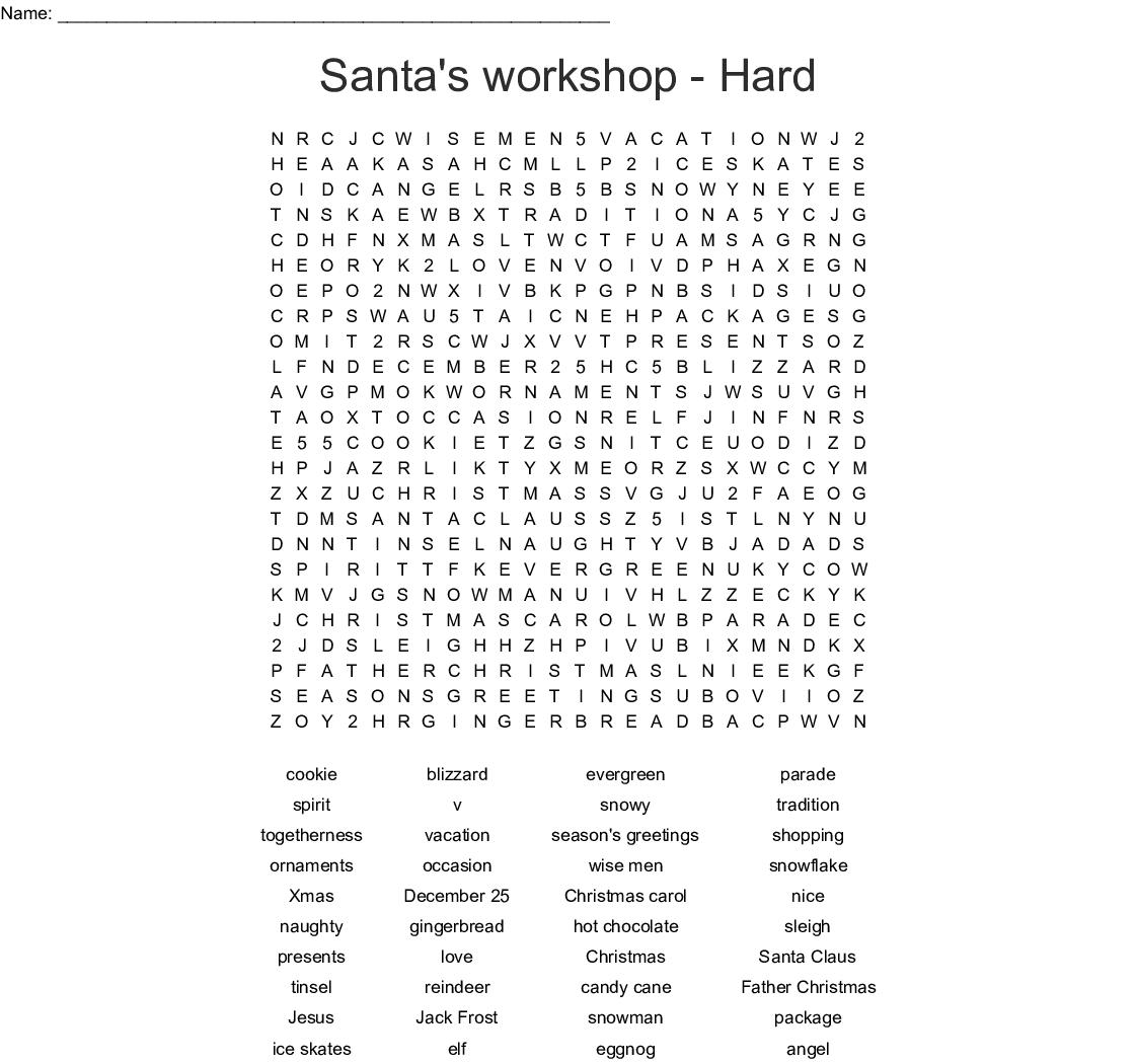 Word Search Xmas