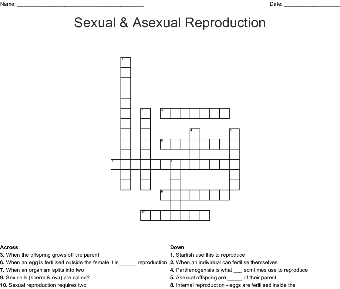 A Ual Reproduction Word Search