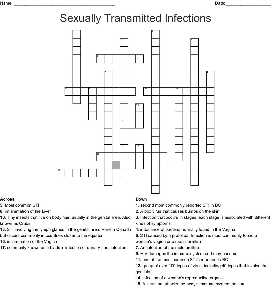 Stds Crossword