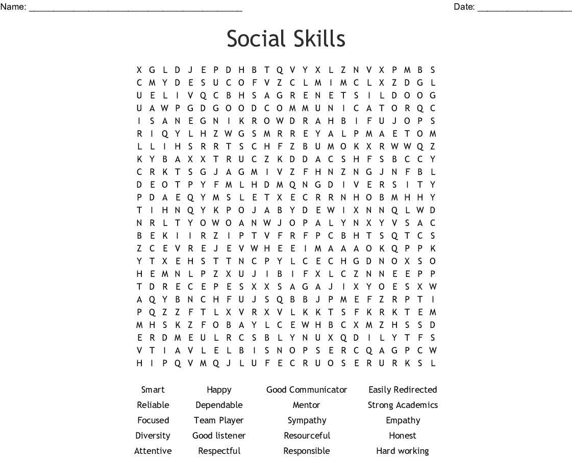 Leadership Word Search