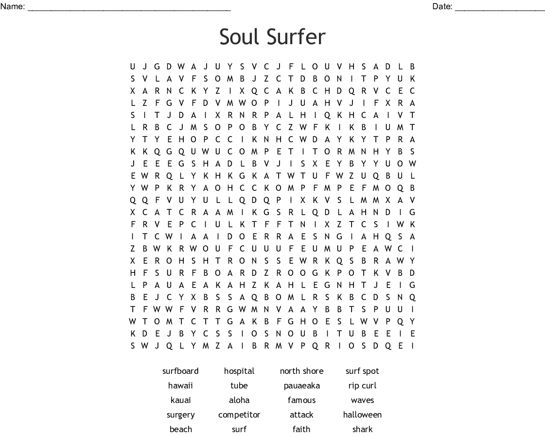 Surfing Word Search