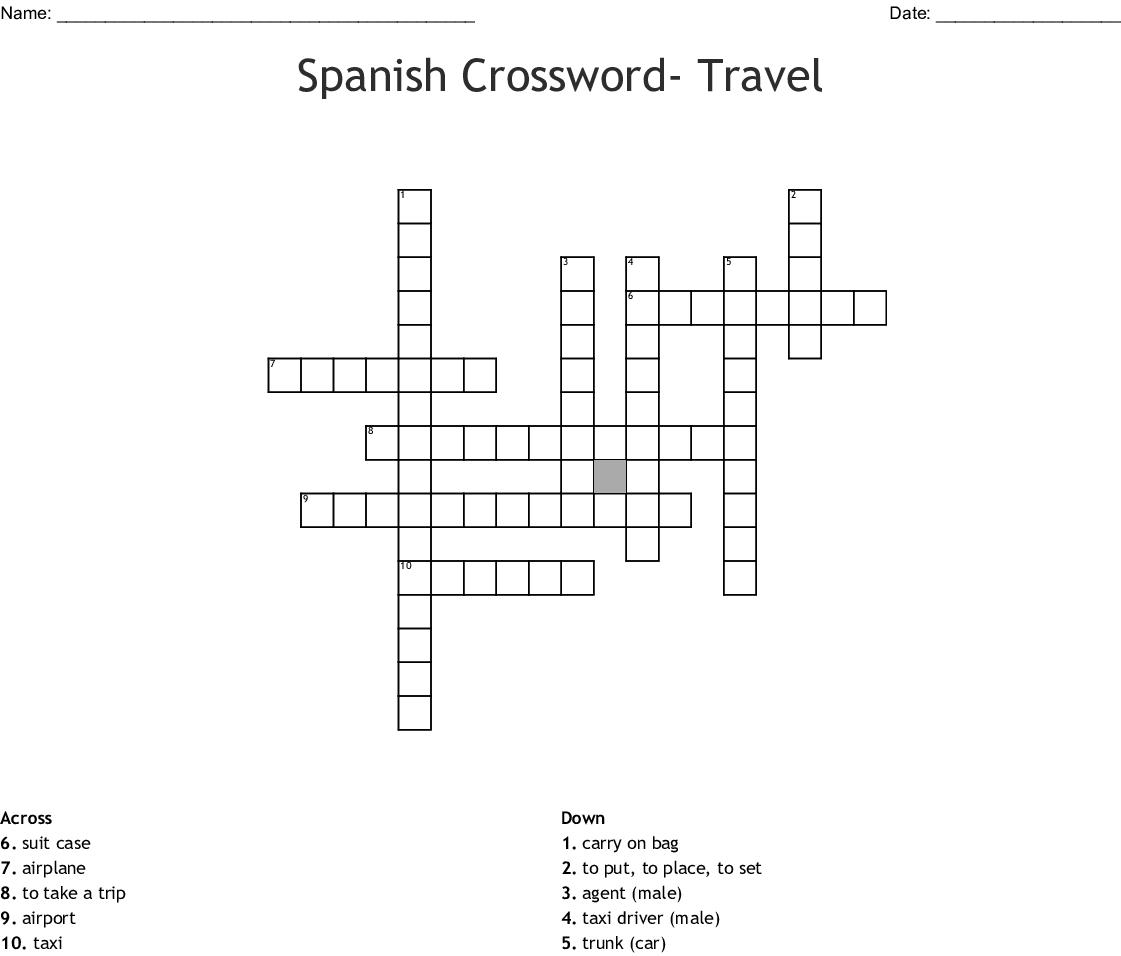 Spanish Crossword Travel