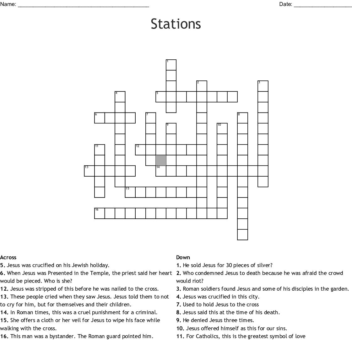 Stations Crossword