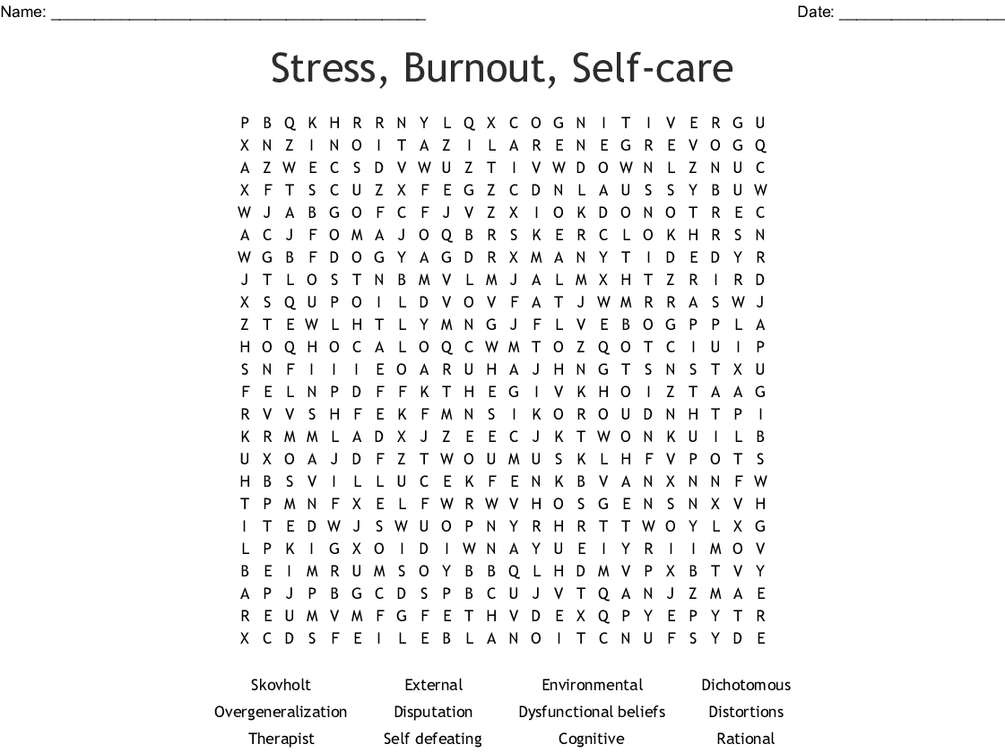 Cbt Terms Word Search