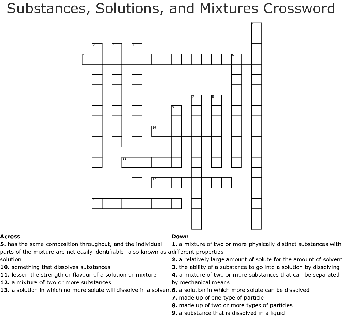 Iv Therapy Crossword
