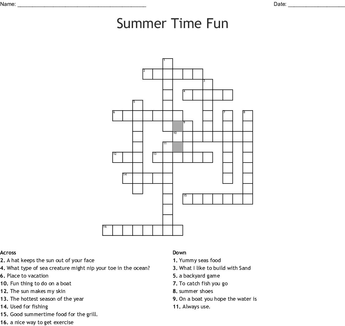 Summer Crossword