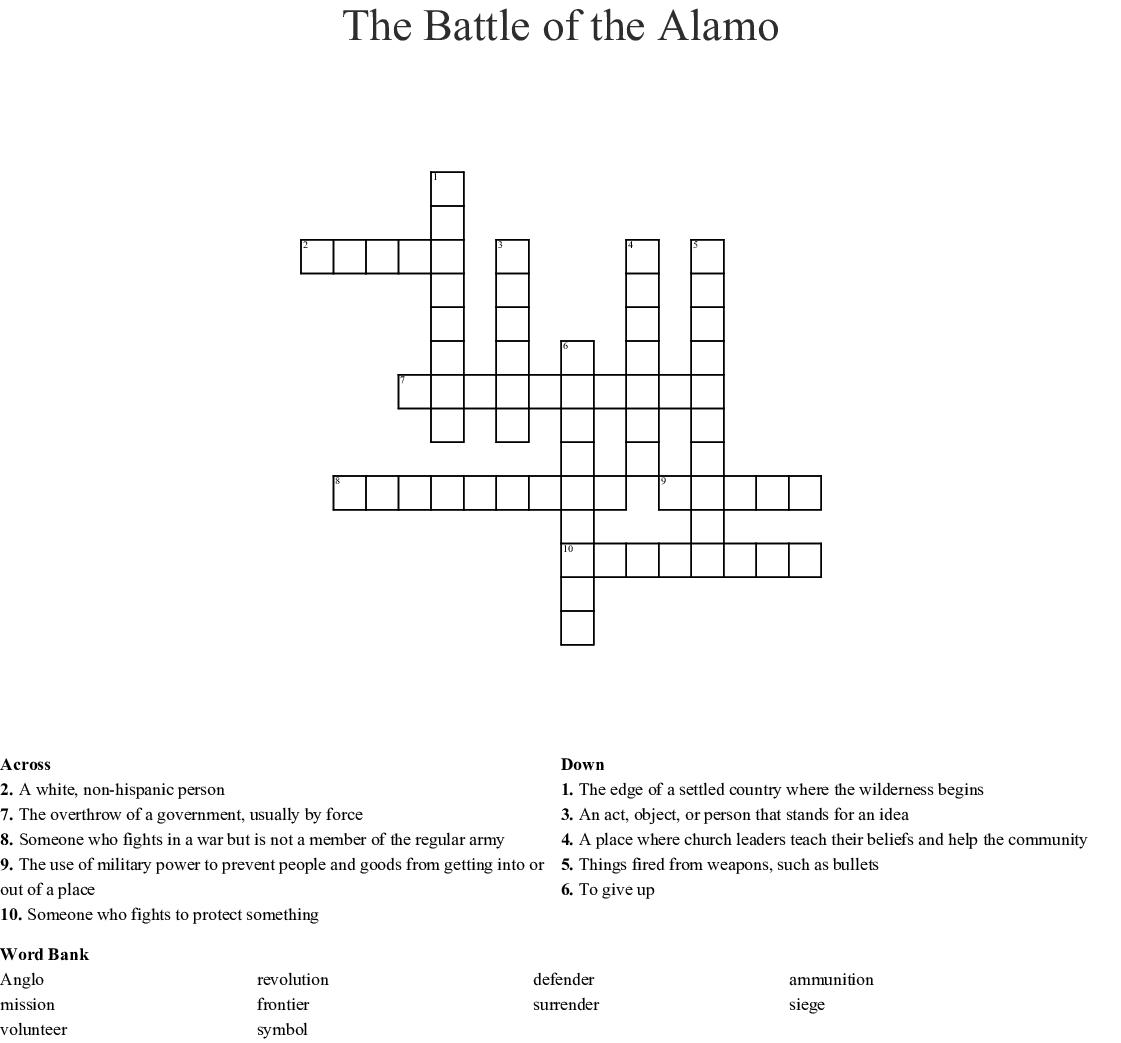 Unit 5 Vocabulary Crossword