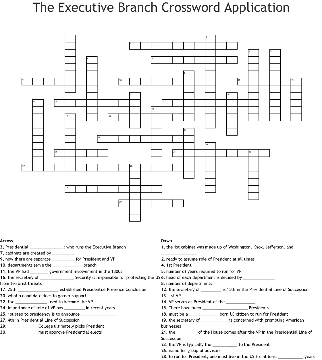 Chapter 10 Word Search Crossword