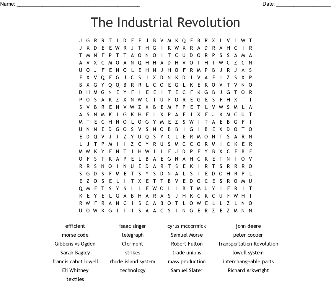 The Expansion Of Industry Worksheet Answers