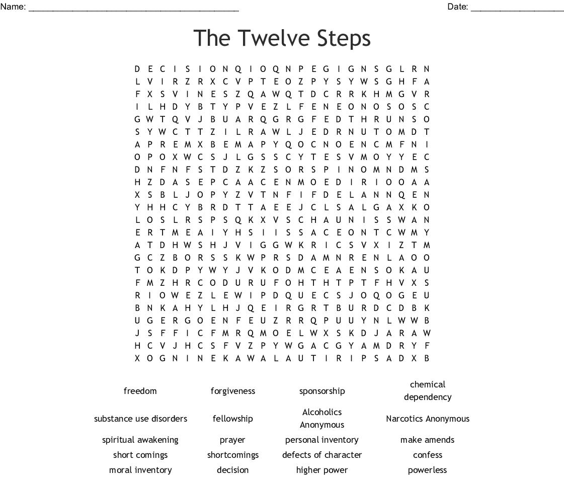 100 Epic Best Printable Aa 12 Steps