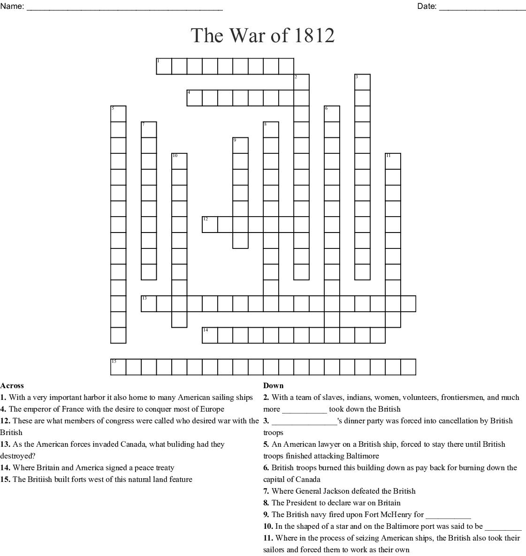 The War Of Crossword