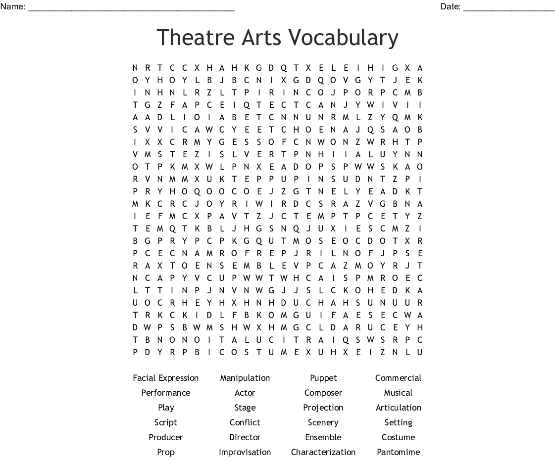 Film Industry Word Search