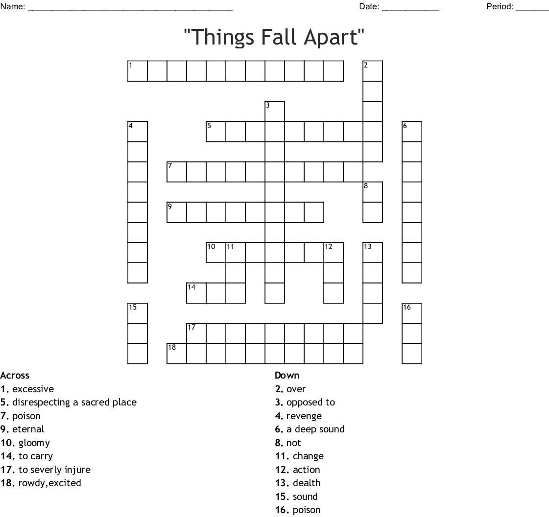 Similar To Things Fall Apart Crossword