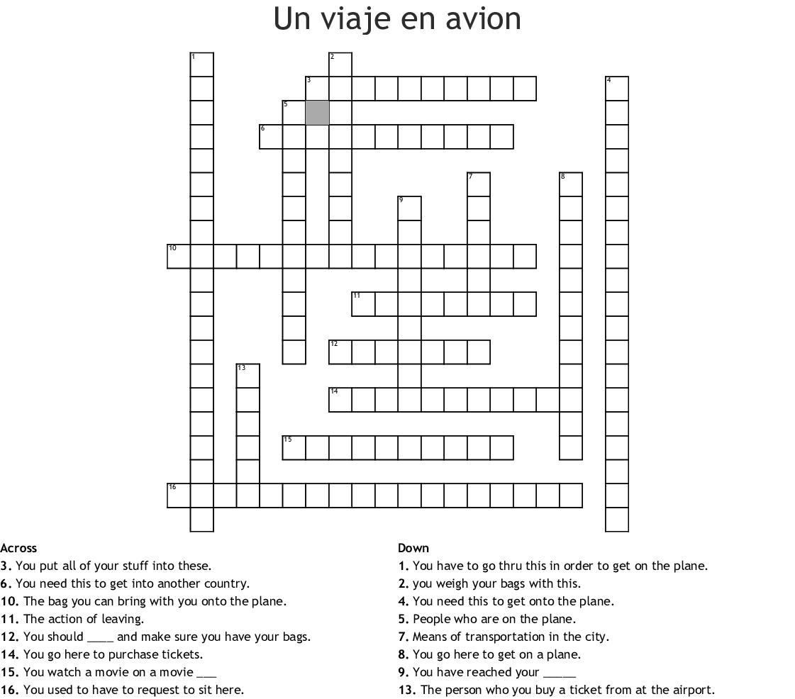 Spelling Words Crossword Puzzle