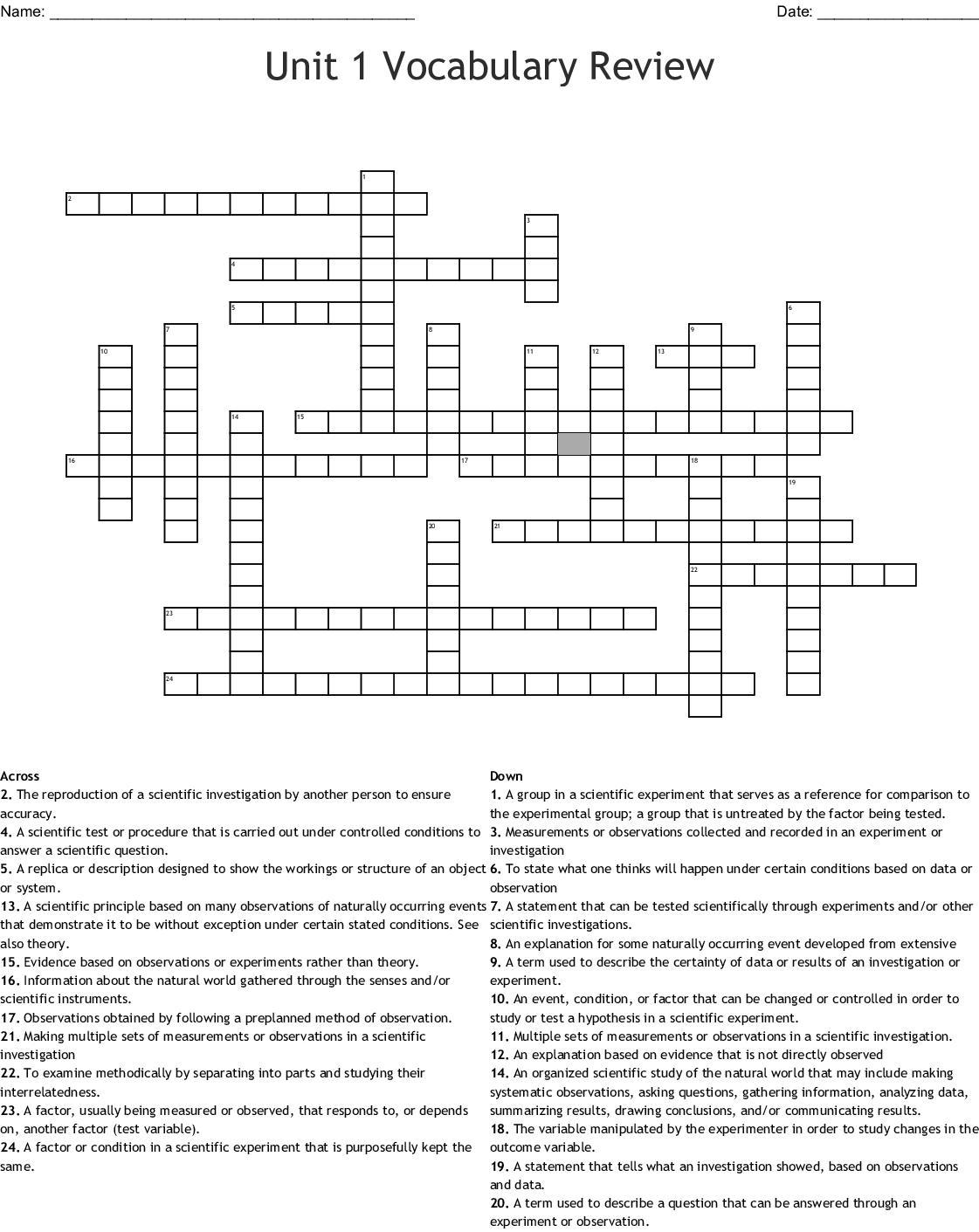 Experimental Design Worksheet Scientific Method Answer Key