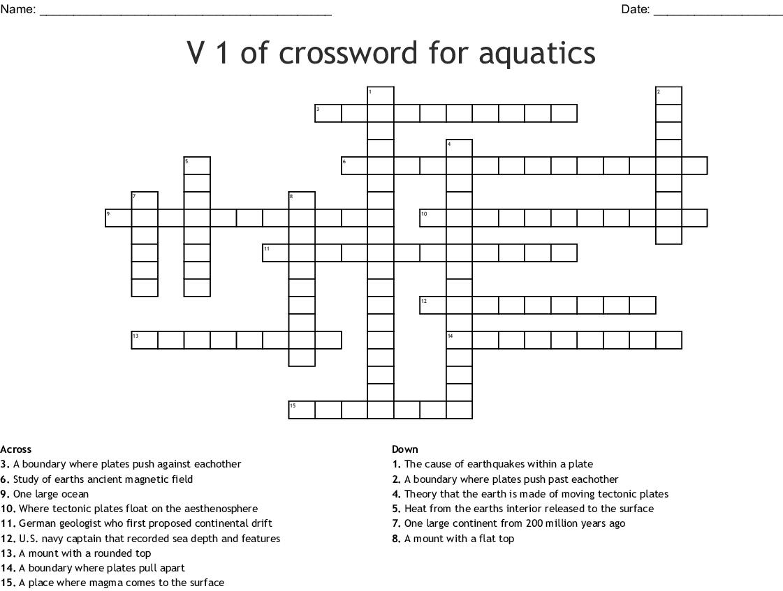 Continental Drift Crossword