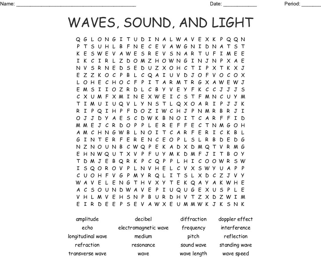 K Sound Spelt Ch Word Search