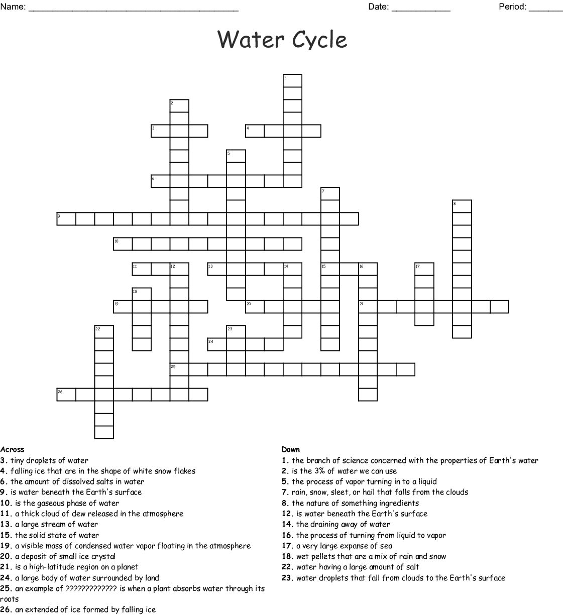 Earth S Spheres Word Search