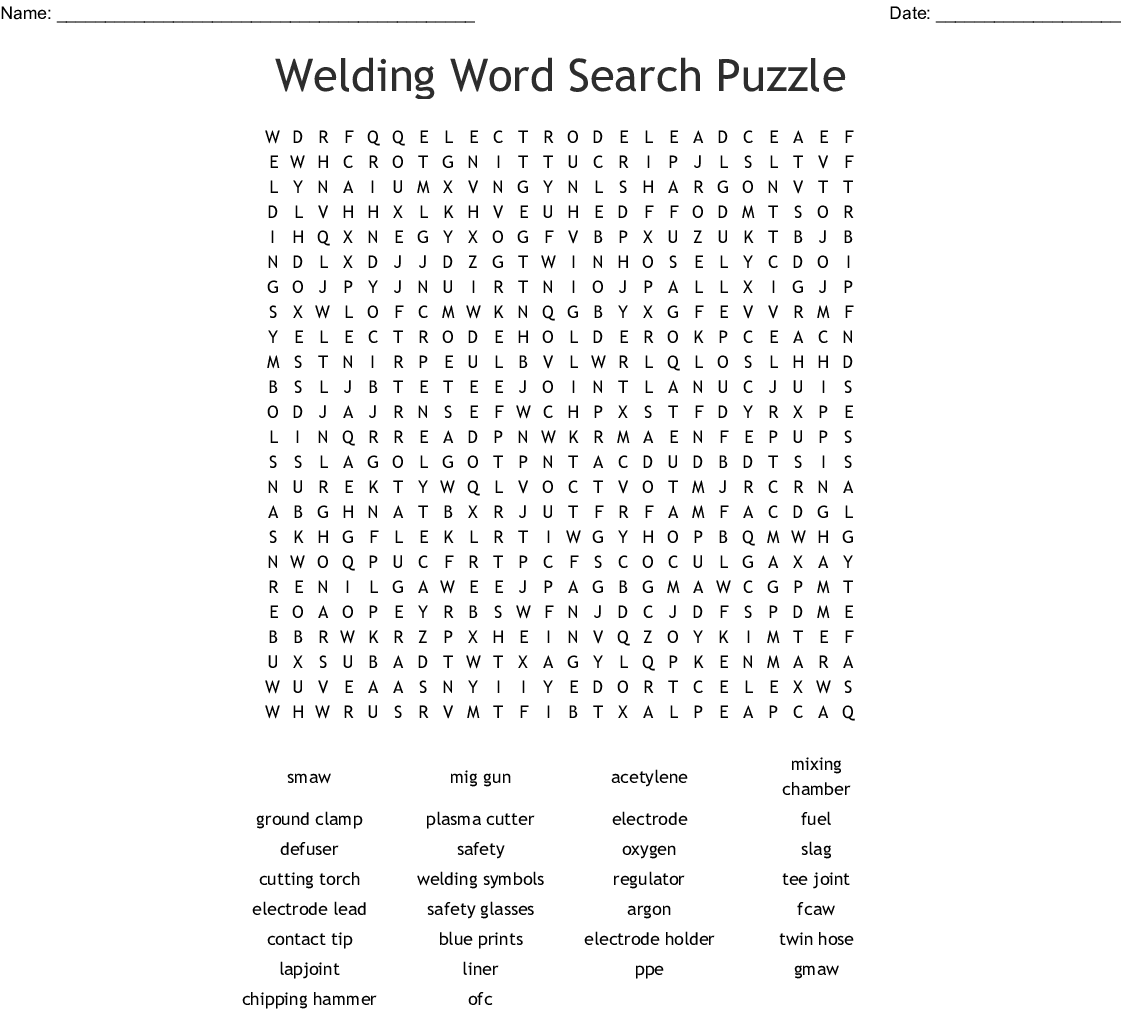 Wire Welding Crossword