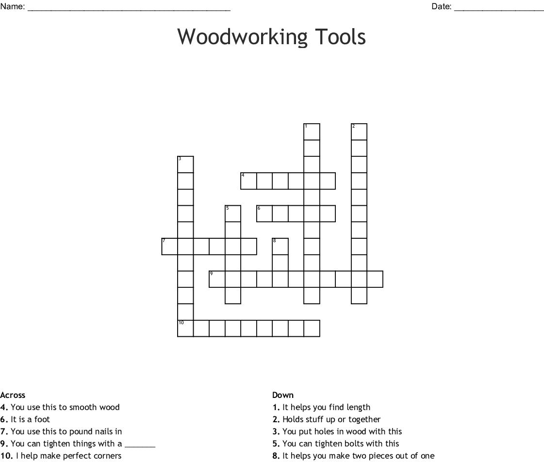 Woodworking Tools Crossword