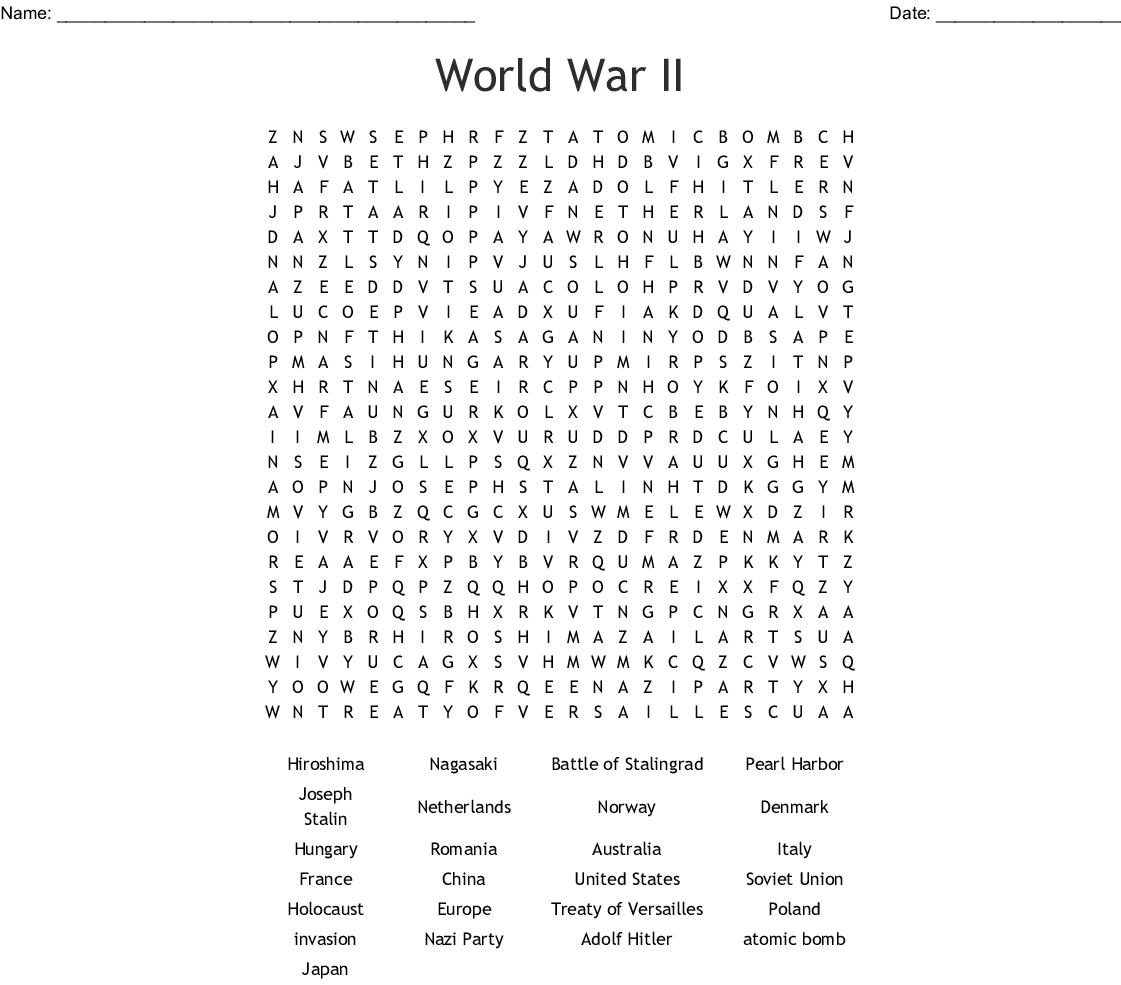 Ww2 Crossword
