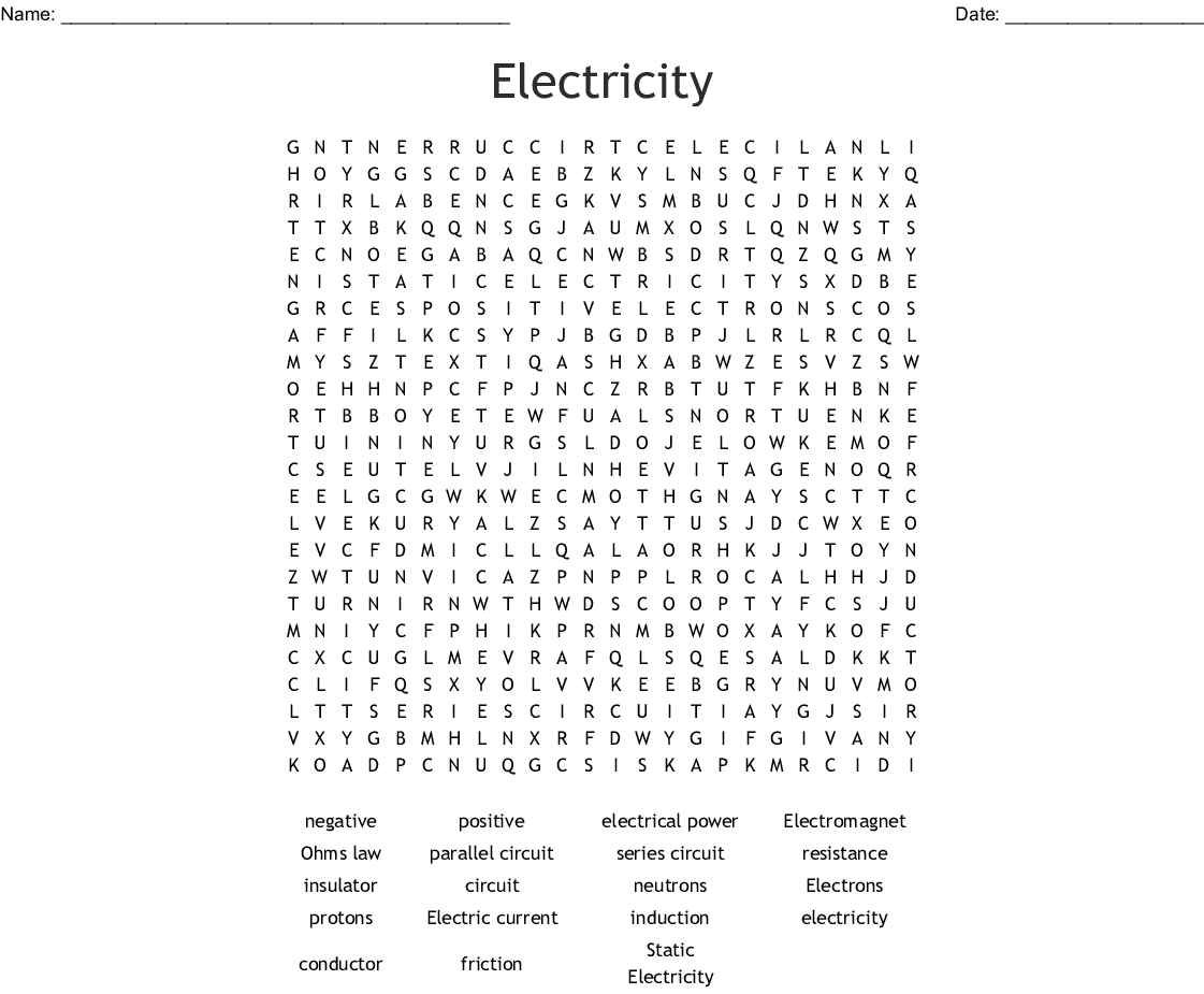 Psw Energy Word Search Answer Key