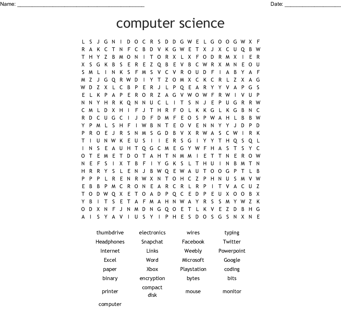 Computers Amp Electronics Crosswords Word Searches Bingo