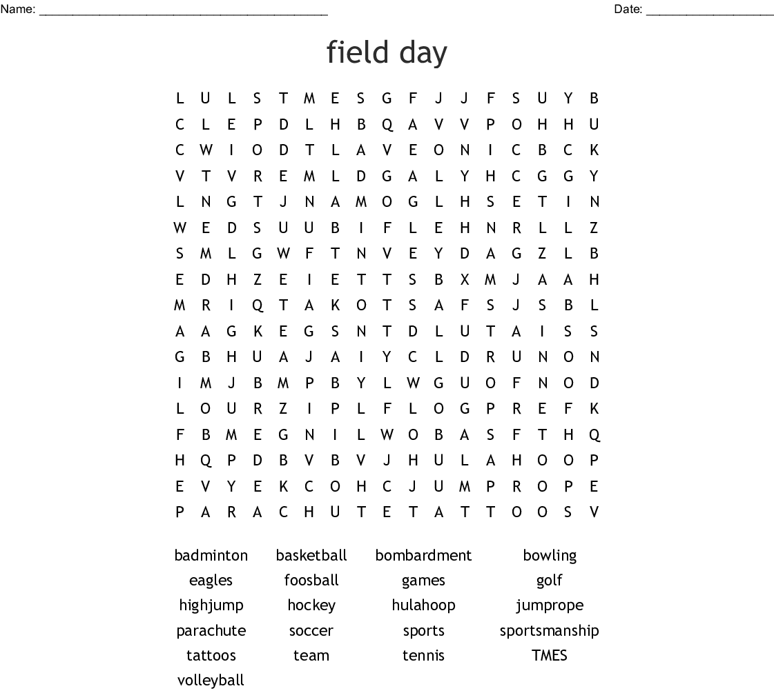 P E Word Search