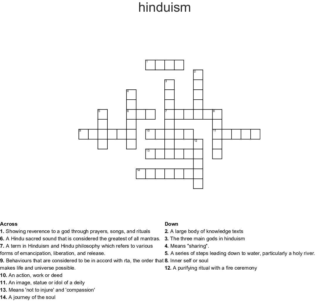 Crossword Puzzle 20 Clues Word