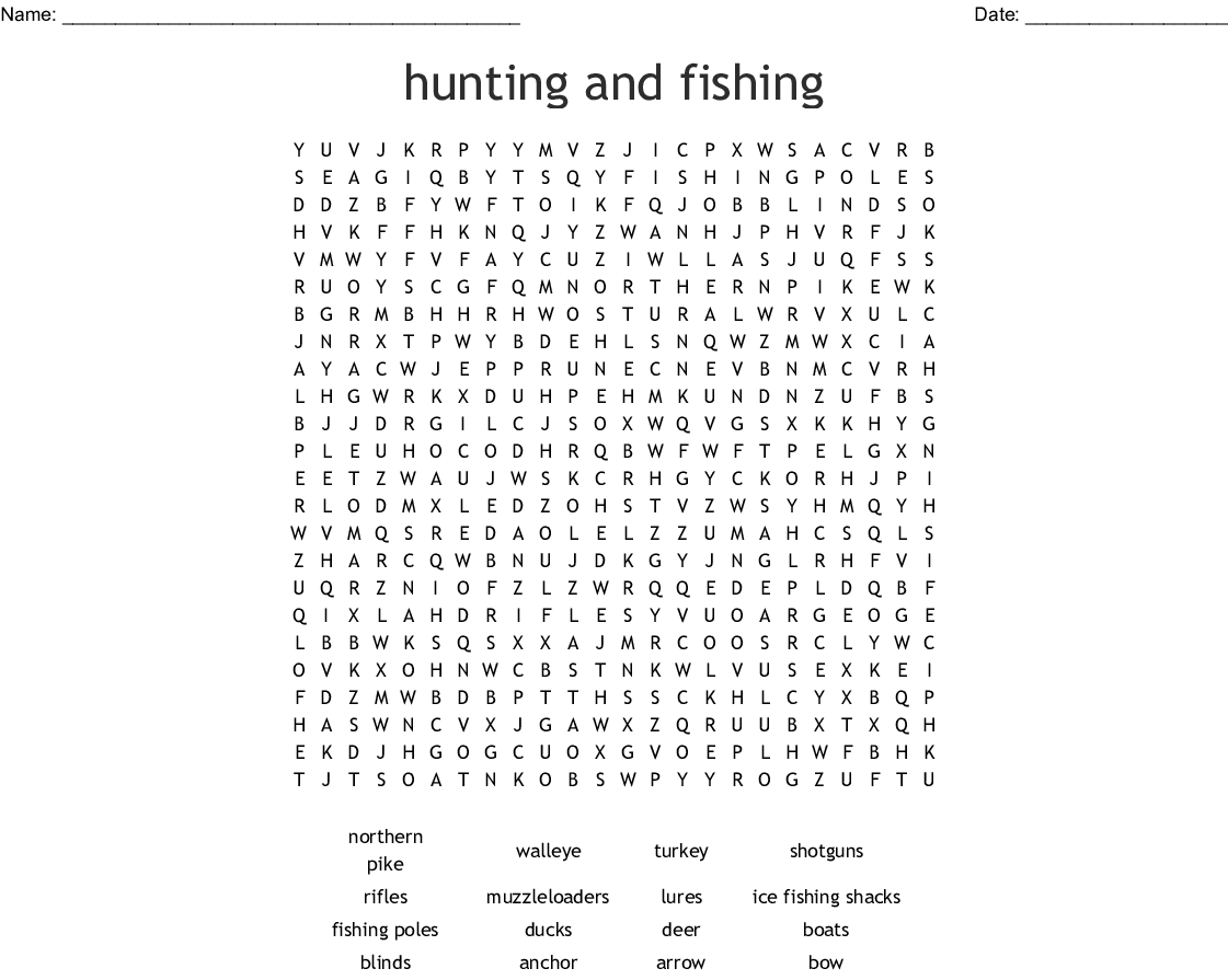 Hunting Word Search