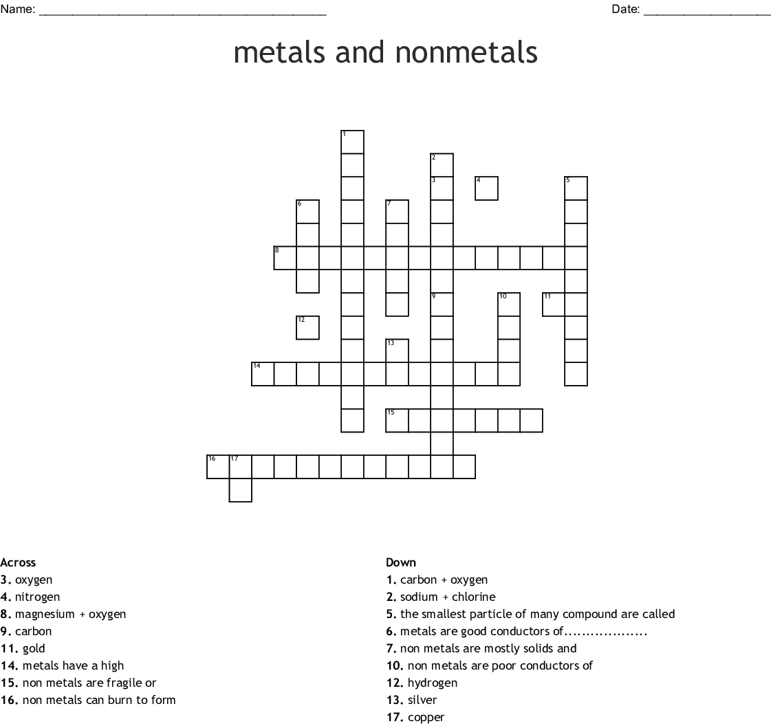 Halogens Word Search