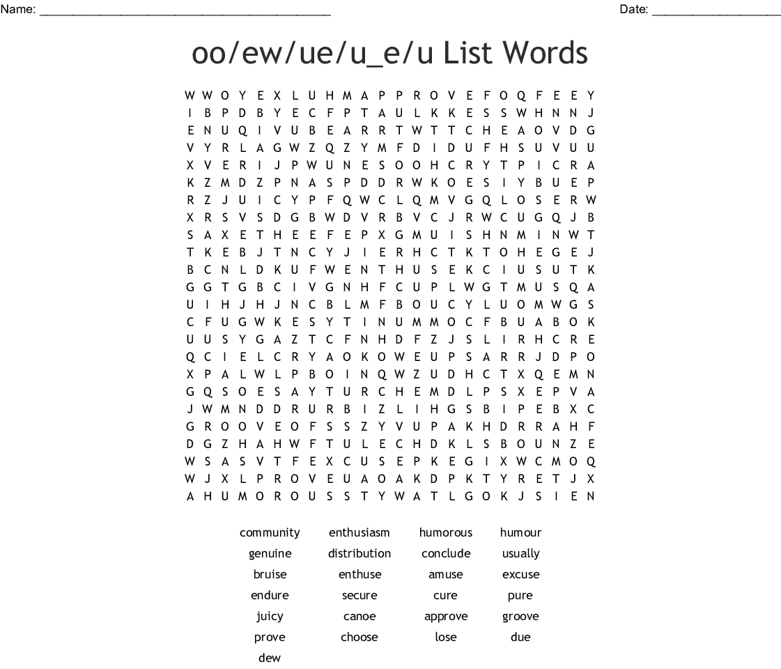 10th Grade List 9 Word Search
