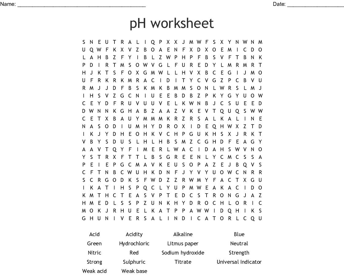 Acids And Alkali Crossword