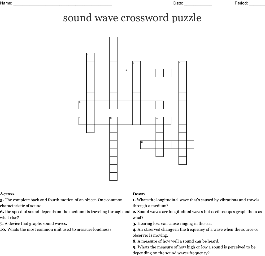 Science And Sound Word Search