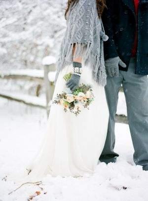 свадебная фотосессия зимой фото 03