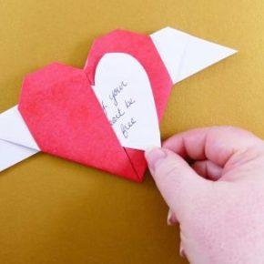 сердечко из бумаги оригами фото 021