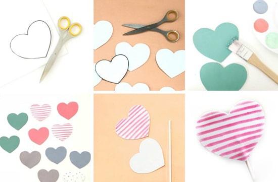 как делать сердечки из бумаги фото 040
