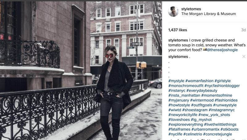 Top Fashion Hashtags for Likes Instagram Example
