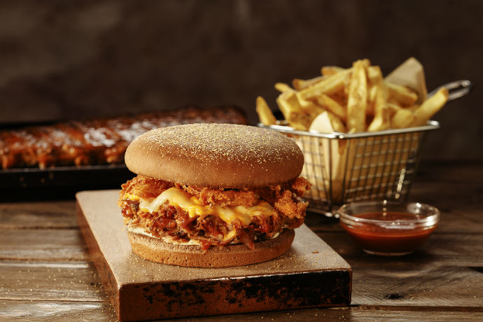 Ribs Bloomin Burger do Outback