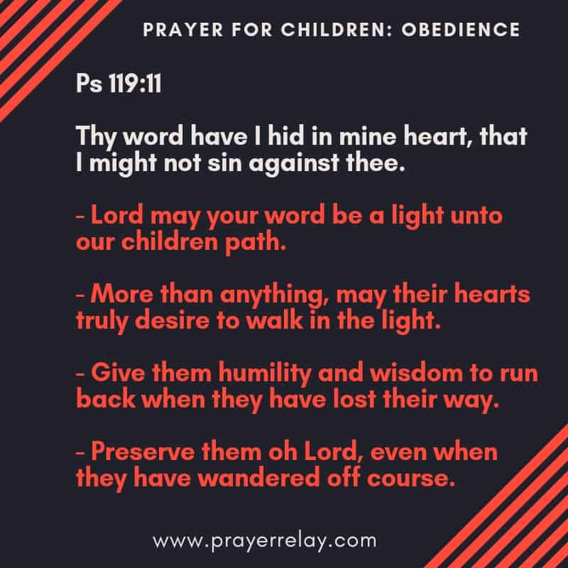 PRAYER FOR CHILDREN_ OBEDIENCE