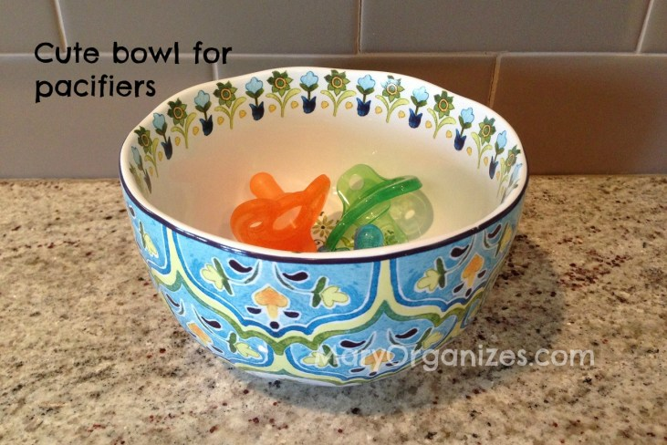 cute bowl for pacifiers