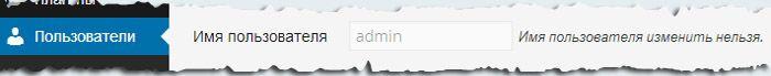 Имя пользователя изменить нельзя