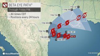 Tropical Storm Beta to Spend Days Pounding Gulf Coast