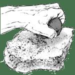 Moudre le grain avec une meule et une molette