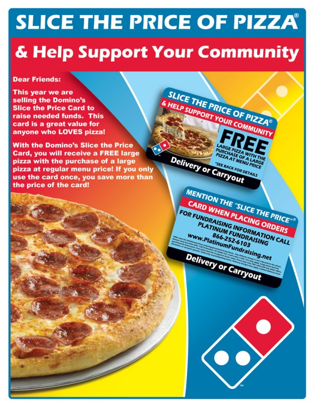 AHSBA Fundraising: Domino's PIzza